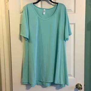 LuLaRoe Perfect Tee NWT 3X Plus size Solid Teal